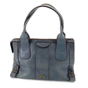 Fossil vintage reissue weekender satchel tote blue